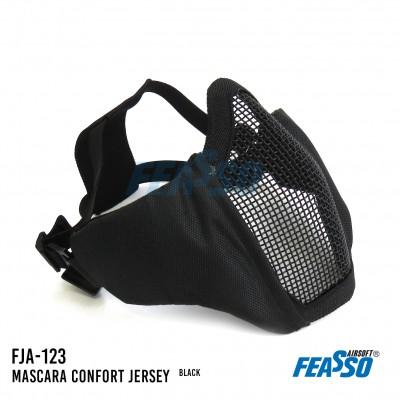 Mascara jersey comfort fja-123 airsoft preta