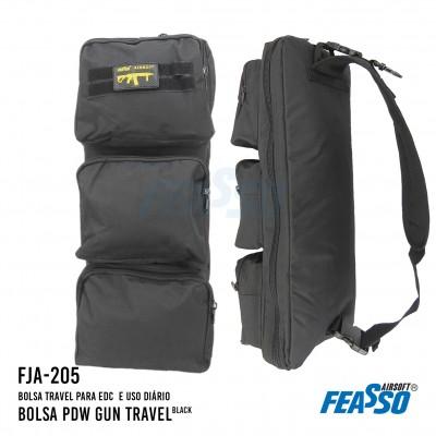 Bolsa Pdw Gun Travel Fja-205 Preta
