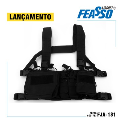 Chest Rig Orion-v1 Fja-181 Airsoft Cor Preto