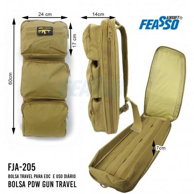 Bolsa Pdw Gun Travel Fja-205 Tan