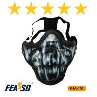 617 - MASCARA FJA-120 TELADA MEIA FACE - PRETA*