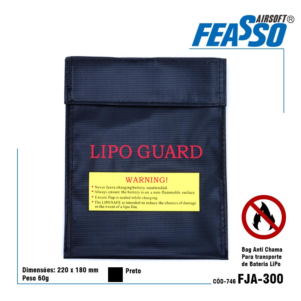 Capa protetora preta fja-300x para baterias lipo*