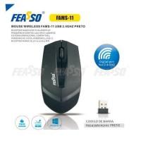 Mouse wireless fams-11 usb 2.4ghz preto