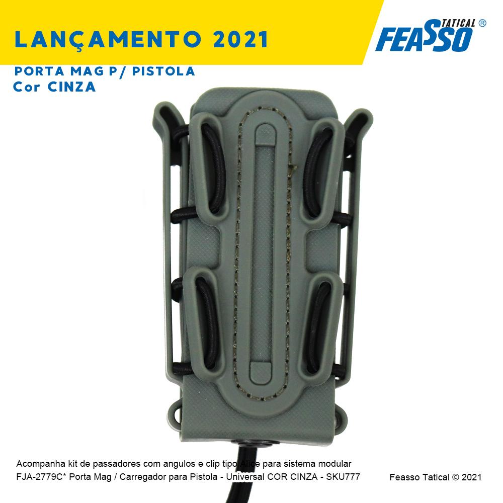 FJA-2779C*  Porta Mag / Carregador para Pistola - Universal - Cor Cinza*