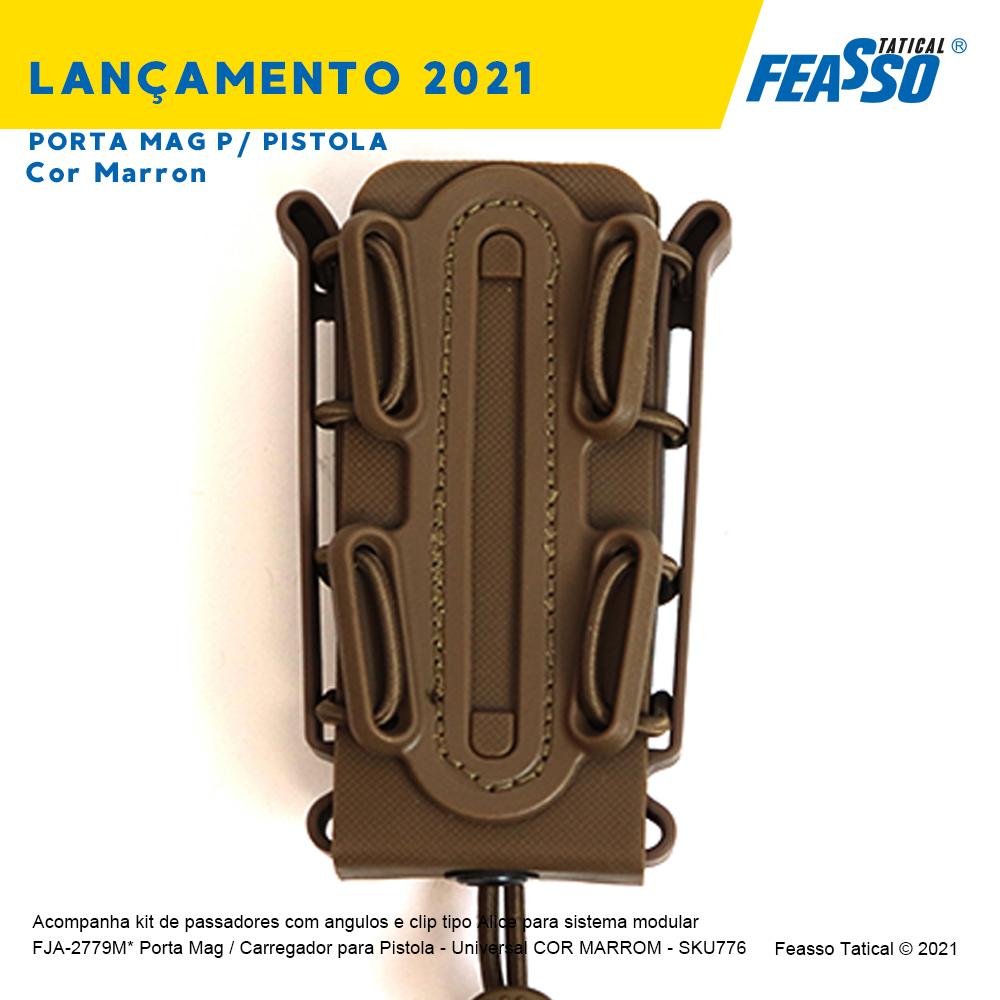 FJA-2779M*  Porta Mag / Carregador para Pistola - Universal - Cor Marron