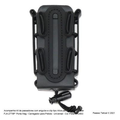 FJA-2779P  Porta Mag / Carregador para Pistola - Universal - Cor Preta